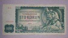 100 korun Czechoslovakia 1961 - FREE SHIPPING WORLDWIDE