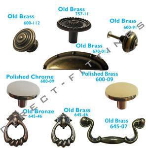 Antique Heavy Handles Ring / Knobs Vintage Cabinet Drawer Drop Swan Neck door