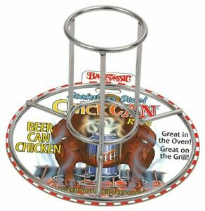 0880PDQ Bayou Classic Stainless Steel Beer Can ChickCan Chicken Rack