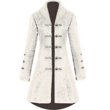 Gothic Vintage Womens Steampunk Victorian Long Sleeve Coat Jacket Party Wear