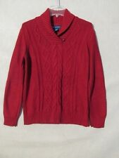 S5545 Karen Scott Women's Small Burgundy Long Sleeve Knit Detailed Sweater