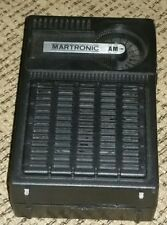 Vintage 1980's Black Martronic AM TRANSISTOR RADIO antique electronic HONG KONG