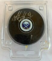 Mike Wilson #4 Buffalo Sabres Signed Hockey Puck