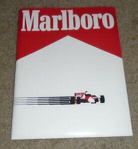 vintage  1989 Marlboro  racing press kit media with photos