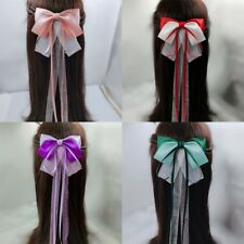 Chinese Vintage Girl Bow Hairpin Hair Clip Hanfu Cosplay Headdress Accessory