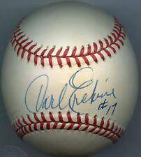 CARL ERSKINE Single-Signed Baseball 1955 Dodgers  KOA Authenticated