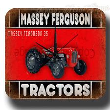 MASSEY FERGUSON 35  VINTAGE RETRO  METAL TIN SIGN WALL CLOCK