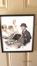 Norman Rockwell Home Duty Lithograph Print Framed