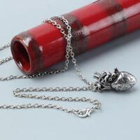 2pcs Retro Anatomical Human-Heart Pendant Necklace Sweater Chain Alloy Jewelry