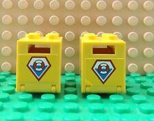 2 recipiente amarillo LEGO Caja con el patrón de la Guardia Costera 4345/4346 ciudad Sea