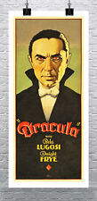 Dracula Vintage Horror Movie Poster Rolled Cotton Canvas Giclee Print 17x34 in.