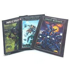 Warhammer 40,000 40k Codex Necrons, Space Marines, Space Wolves Games Workshop