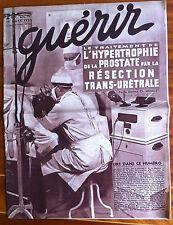 GUERIR du 03/1935; Le traitement de l'hypertrophie de la prostate/ maux de tête