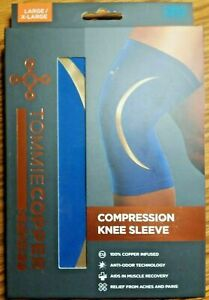 Tommie Copper Sport - Compression Knee Sleeve - Blue - Size Large/X-Large
