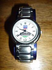Reloj De Cuarzo para Hombre de Acero Inoxidable Pulsera Fecha Heineken en funcionamiento