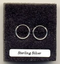 Small Silver Hoops 12mm Sterling Silver 925 Earrings Pair