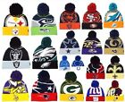 New Era NFL Logo Whiz Skully Winter Beanie Cuffed Pom Authentic Original Hat Cap