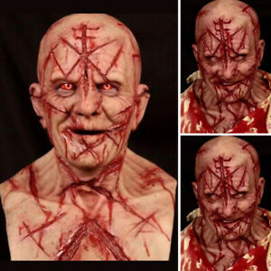 Adult Men Halloween Bloody Zombie Mask Scary Latex Scary Full Head Cosplay Masks