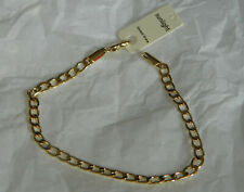 BRACELET MAILLE GOURMETTE PLAQUE OR  NEUF