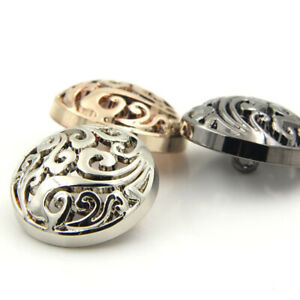 12.5MM-25MM METAL SHANK BUTTONS FLORAL HOLLOW ROUND BOHO BLOUSE BLAZER CARDIGAN