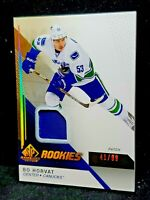 2014-15 SP Game Used Rookies Bo Horvat /99 Clean Rookie Patch Hot #101
