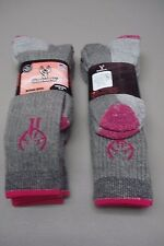 Women's USA Huntworth 70% Merino Wool Blend Socks 4 Pair Shoe 6-9 Multi #413Z