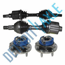 4pc (2) CV Axle Shafts + (2) New Wheel Hubs and Bearing for Chevy Malibu