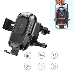 Air Vent Mount Car Wireless Charger Intelligent Infrared Sens Universal iphone