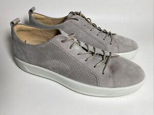 Ecco Gray Suede Sneakers Mens Size EU 46 US 12 EUC