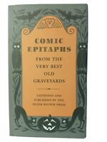 1957 Comic Epitaphs From the Very Best Old Graveyards Peter Pauper Press HC w/DJ