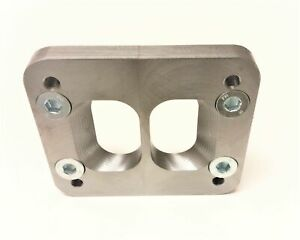 T4 to T3 Counter-bored Divided Turbo Flange Adapter Plate for Cummins Manifold