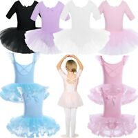 Girls Kids Ballet Dance Tutu Dress Toddler Child Leotard Dancewear Skating Dress