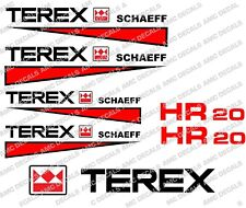 TEREX HR20 DIGGER DECALS  STICKERS SET