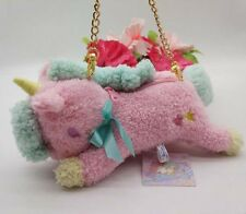 Sanrio Little Twin Stars Unicorn Pink Plush Wallet &Coin Purse& Mini Bag NEW