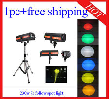 1pc High Quality Intelligent 230W 7R Follow Spot Light DJ Light Free Shipping