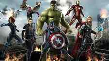 Poster 42x24 cm Vengadores Avengers 2 Capitan America Hulk Iron Man Thor 01