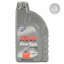 Fuchs TITAN Gear Syn 75W-90 Semi Synthetic Driveline Oil 75W90 3 x 1 Litre 3L