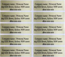 100 Gold Personalised Wedding Name Stickers Vinyl Tag Label 4.6X1.5CM