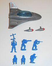 1980's Bluebird Toys - Zero Hour ~ ZF1 QUICK SILVER ~ Fighter Set - 6203