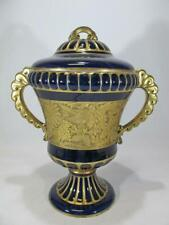 Antique Heinrich Baensch, German porcelain urn with lid.
