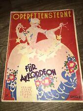 OPERETTENSTERNE Band 2 Für Akkordeon Notenbuch Noten Heft Antik