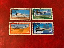 GERMANY BERLIN USED OR MNH 1980 AVIATION VICKERS FOKKER SUD SIKORSKY HELICOPTER