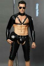 Deluxe Mens Sexy Wet-Look Police Cop Halloween Costume Outfit One Size M/L