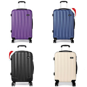 Light Weight Hard Shell Travel Luggage Trolley 4 Wheel Suitcase 20'' 24'' 28''