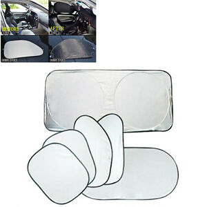 6x Car Auto Window Sun Shade Car Windshield Visor Folding Cover Window Sunshade