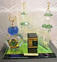 Crystal Glass Mecca KAABA clock Islamic Home Decoration Ramadan Eid - Gift Boxed