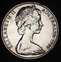 1966 Australia 50 Cents 50c  80% Silver Coin UNC +Lustre