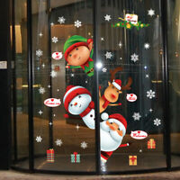 3D Christmas Santa Claus Wall Stickers Removable PVC Window Decal Xmas Decor 1PC