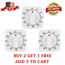 60Minutes Timer 1-Hour Long Kitchen Ring Bell Alarm Loud Cooking Mechanical USA