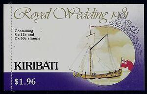 1981 KIRIBATI CHARLES & DIANA ROYAL WEDDING BOOKLET FINE MINT MNH/MUH